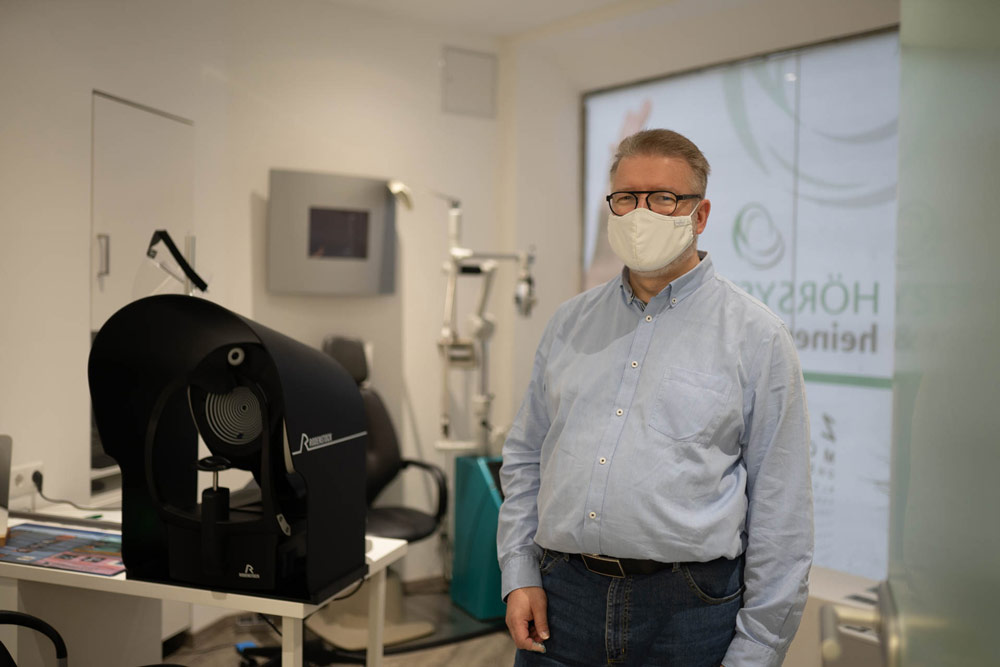 DNEye-Scanner mit Jens Schulz, Optik in Heißen, Mülheim an der Ruhr